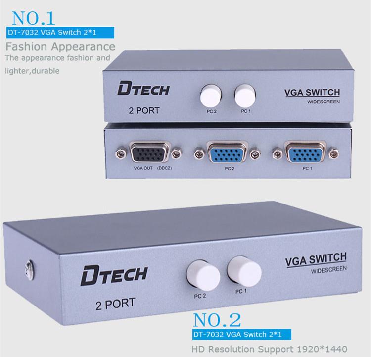 DTECH DT-7032 1920 * 1440 VGA SWITCH 3X2