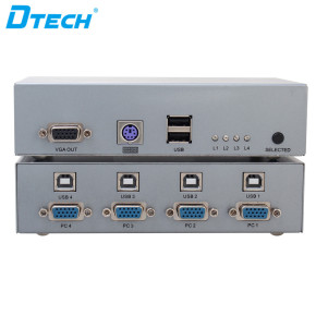 DTECH DT-7017 1920 * 1440 VGA KVM SWITCH 4 in 1 out