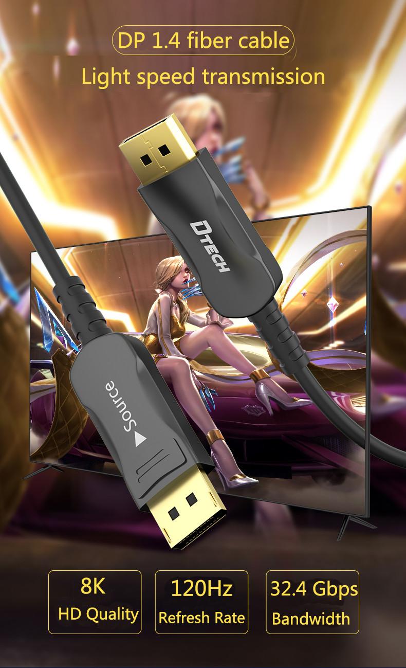 Dtech nueva llegada cable de fibra DP