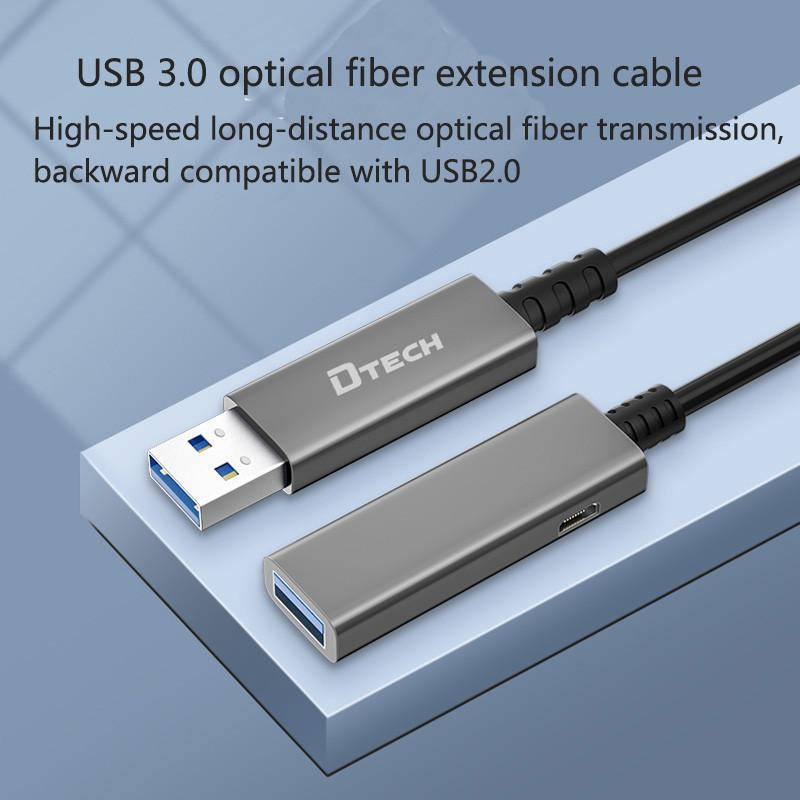 dtech جديد وصول كابل الألياف USB