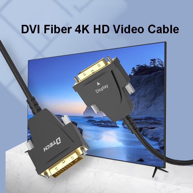 dtech nueva llegada cable de fibra dvi