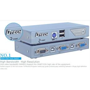 DTECH DT-8021 Semi-automatic KVM switcher 2 * 1