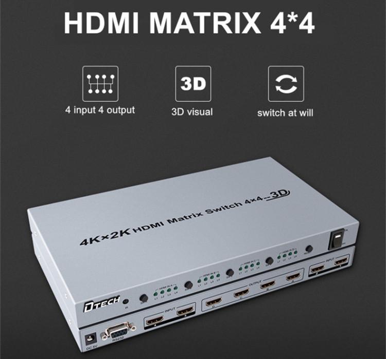 Dtech 4K*2K HDMI MATRIX SWITCH 4*4