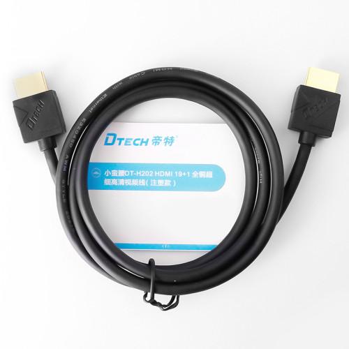 Dtech منتج جديد DVD TV 4K Pure Copper 0.5m Mini Hdmi Cable Micro Display Port Hdmi to Hdmi Cable