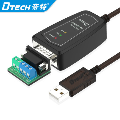 Dtech Plug and Play 0.5M 1.5M Serial Converter Cables Adapter USB 2.0 to RS422 RS485 Serial Cable