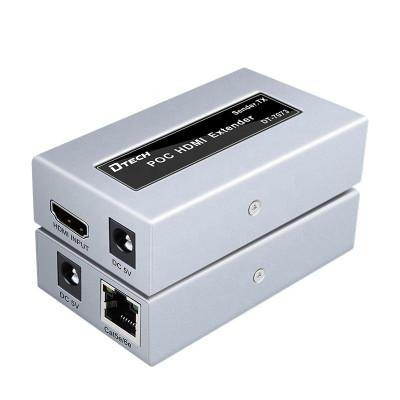 1080p 4k cat5 cat6 to rj45 LAN signal extension transmission  50 meter poc  hdmi extender