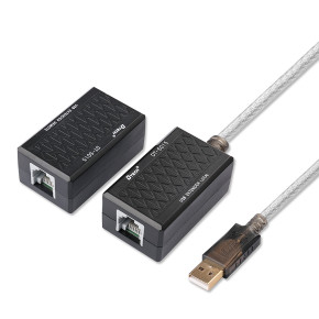 USB Type A male and RJ45 Female