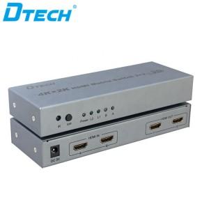 3D 4Kx2K HDMI MATRIX SWITCH 2x2 arbitrary cross output HDMI MATRIX SWITCH for HD