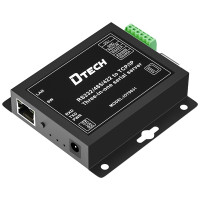 DTECH Internet of Things RS232 RS485 to TCP/IP Ethernet converter, modbus gateway serial device server, support POE