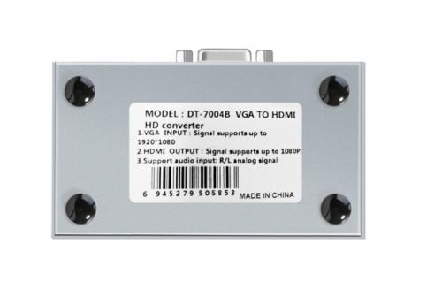 DT-7004B المعدن قذيفة 1080P VGA لتحويل HDMI
