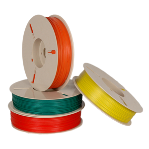 Plastic twist tie roll for packaging machine use