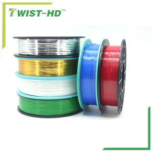 Spool metallic twist ties for bakery