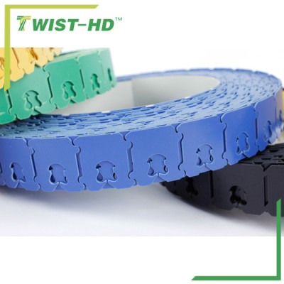 Different colours plastic clipbands for toast bag / tea bag /coffee bag