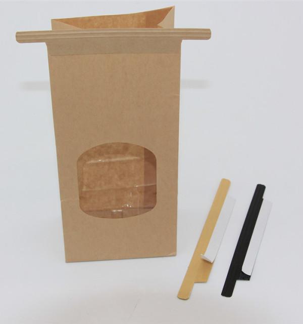 self adhesive tin tie for kraft paper bags
