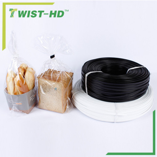 plastic double wire tin tie for bakery/coffee/tea bags