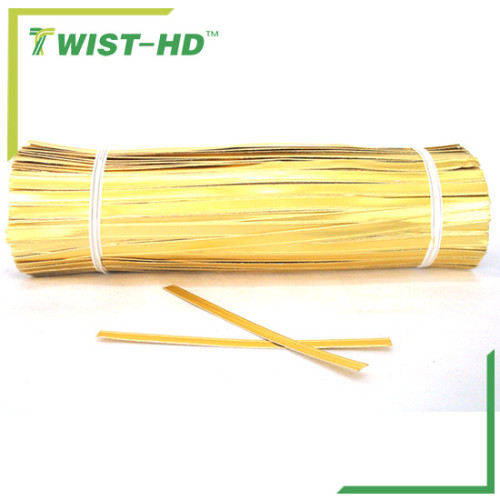 Foil paper twist tie for double wire