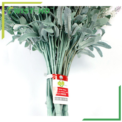 label twist ties for vegetable/fruit binding