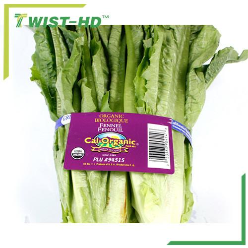 Waterproof paper twist ties for vegetable binding