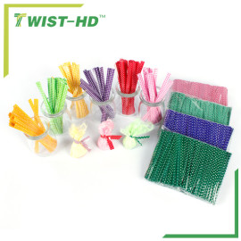 Colourful pet twist tie for giftbags