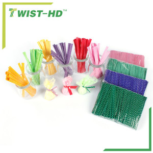 printed plastic twist ties/bag closure for bakery