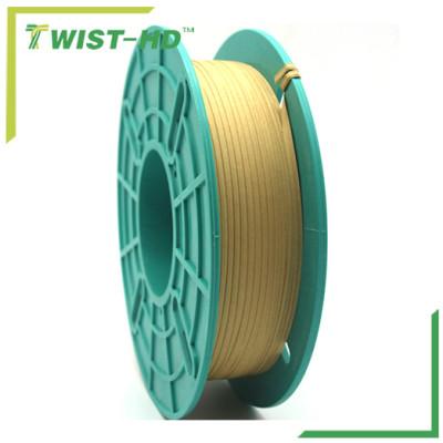 Spool paper twist ties/bag closure