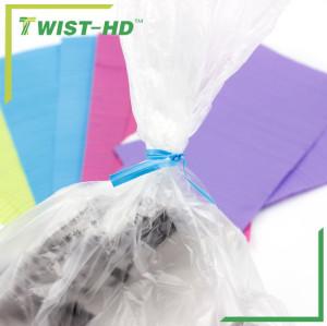 plastic/paper gang twist ties for trash bags