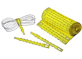 fish bone bag ties/bag closure
