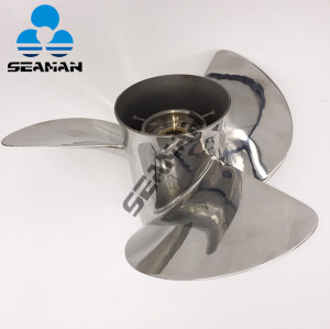13 1/2x15 Stainless steel Outboard Propeller 6E5-45947-00-EL For Yamaha 50-130HP engine with good quality from China