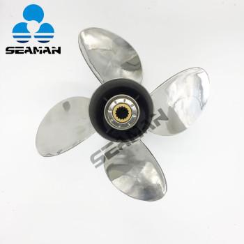 nueva hélice externa de acero inoxidable de 4 baldes para motor Yamaha