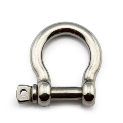 JIS Bow Shackle Stainless Steel High Polished with Safety Pin