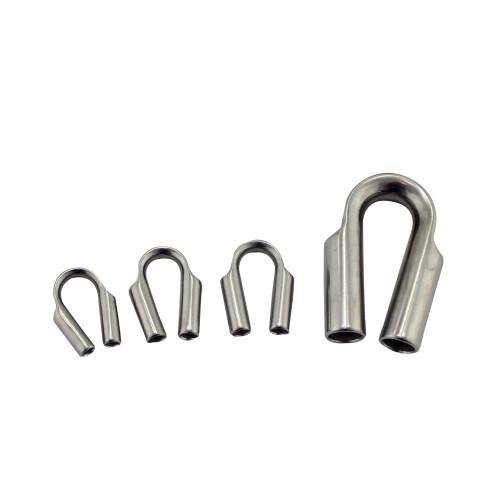 US نوع 1/8 سلك حبل كشتبان المشبك G414 الفولاذ المقاوم للصدأ