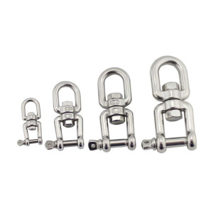 Stainless Steel Eye Eye Double Ring Swivels for Wire Rope