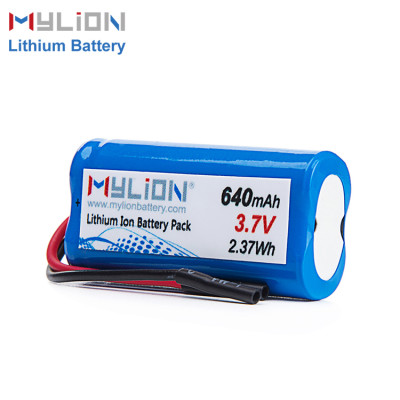 3.7v 640mah lithium battery pack