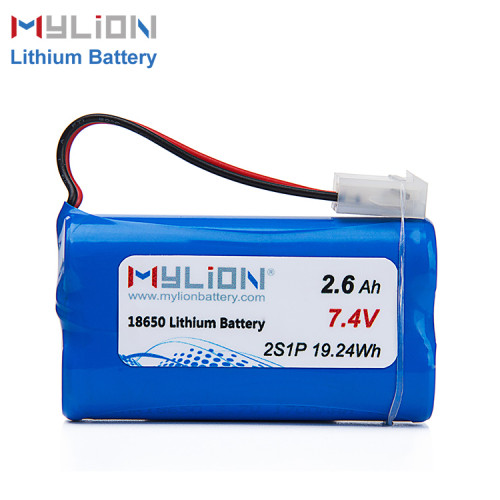7.4V2600mAh Lithium ion battery pack