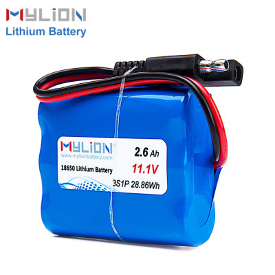 Mylion 11.1v 2600mah lithium battery pack
