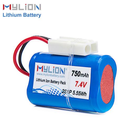 7.4V750mAh Lithium ion battery pack