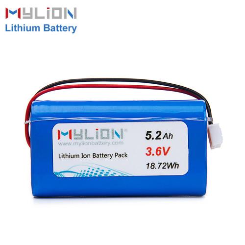 3.6V5200mAh Lithium ion battery pack