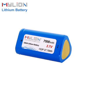 3.7V7500mAh Lithium ion battery pack
