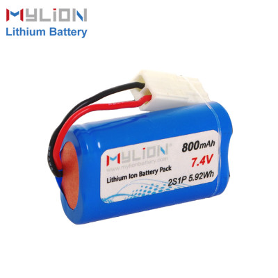 Mylion 7.4V800mAh Lithium ion battery pack