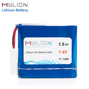 7.4V1500mAh Lithium ion battery pack