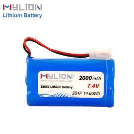 7.4V2000mAh Lithium ion battery pack