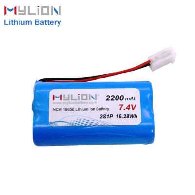 7.4V2200mAh Lithium ion battery pack