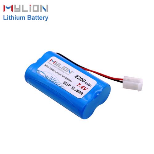 7.4V2200mAh Lithium ion battery pack