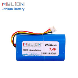 7.4V2500mAh Lithium ion battery pack