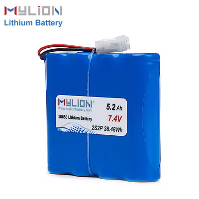 7.4V5200mAh Lithium ion battery pack
