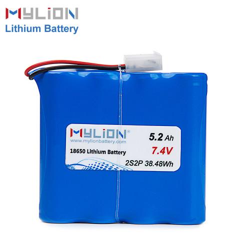 7.4V5200mAh Lithium ion battery pack