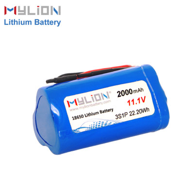 11.1V2000mAh Lithium ion battery pack