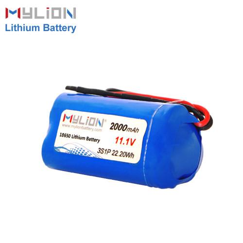 11.1V2000mAh Lithium ion battery pack