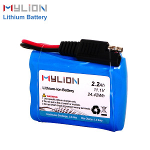 11.1V2200mAh Lithium ion battery pack