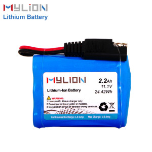 11.1V2200mAh Lithium ion battery pack